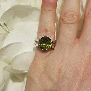 2/$12 Lia Sophia | green and silver ring